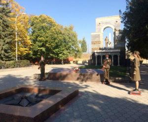 Несение Почётного Караула у Мемориала «Огонь Вечной Славы»
